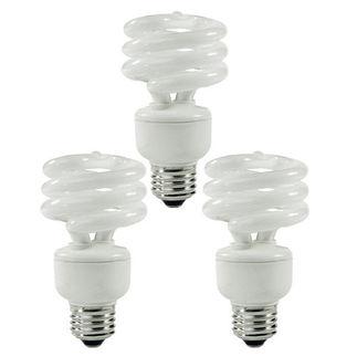 (3 Pack) TCP 8010193 - 19 Watt - 75 W Equal - 2700K Warm White - Min. Start Temp. - 20 Deg. - 800 Series Phosphors - CFL