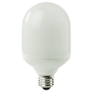 19 Watt - Bullet Shape CFL - 75 W Equal - 5100K Full Spectrum - Min. Start Temp. -20 Deg. F - 84 CRI - 50 Lumens per Watt - 15 Month Warranty - TCP 1T2419-51 - screw in CFL Bullet