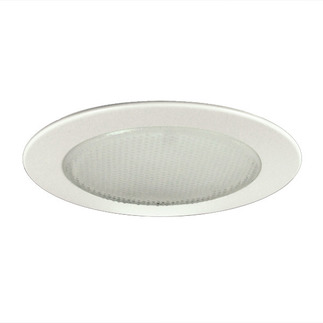 6 in. - White Albalite Shower Trim - Premium Quality Brand PT22 - Light Fixture Accessory