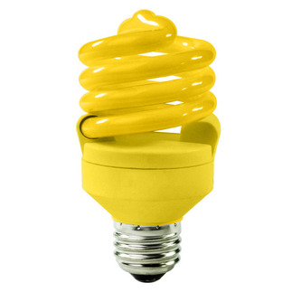18 Watt - 75 W Equal - Yellow Bug Light - CFL Light Bulb - TCP 48918-Y CFL Bug Light
