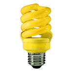 13 Watt - 60 W Equal - Yellow Bug Light - CFL Light Bulb - TCP 48913-Y CFL Bug Light