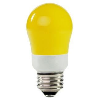 Dimmable - 5 Watt - 25-30 W Equal - Yellow - CCFL Light Bulb - A Shape -  TCP 8A05Y