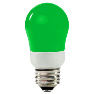 Dimmable - 5 Watt - 25-30 W Equal - Green - CCFL Light Bulb - A Shape - TCP 8A05GR - Green CCFL