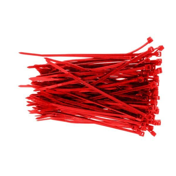 Red Zip Ties - Christmas Light Accessory - 100 Pack