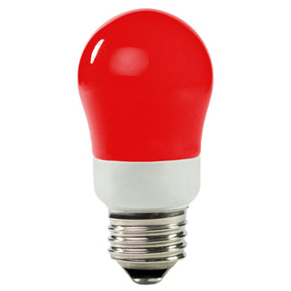 Dimmable - 5 Watt - 25-30 W Equal - Red - CCFL Light Bulb - A Shape -  TCP 8A05RD
