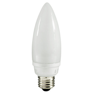 14 Watt - Torpedo CFL - 60 W Equal - 5100K Full Spectrum - 82 CRI - 51 Lumens per Watt - 15 Month Warranty - TCP 10714-51K Chandelier CFL