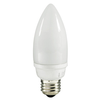 9 Watt - Torpedo CFL - 40 W Equal - 2700K Warm White - 82 CRI - 47 Lumens per Watt - 15 Month Warranty - TCP 10709-27K Chandelier CFL
