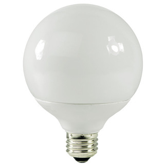 19 Watt - G30 CFL - 75 W Equal - 2700K Warm White - 82 CRI - 50 Lumens per Watt - 15 Month Warranty - TCP 1G3019-27 Globe CFL