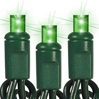 (48) Bulbs - Commercial LED System - Green Wide Angle Mini Lights - Length 24 ft. - Bulb Spacing 6 in. - Green Wire - 24V - 3-Channel