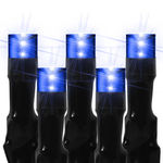 (240) Bulbs - Commercial LED System - Blue Wide Angle Crab Lights - Length 14 ft. - Black Wire - 24V - 3-Channel