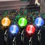 (96) Bulbs - Commercial LED System - Multi-Color Cherry Drop Net Lights - 4 ft. x 6 ft. - Black Wire - 24V - 3-Channel