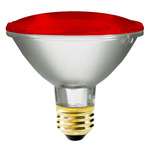 75 Watt - PAR30 - Red - 120 Volt - 2,500 Life Hours - Halogen Light Bulb -  Bulbrite 683757