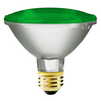75 Watt - PAR30 - Green - 120 Volt - 2,500 Life Hours - Halogen Light Bulb - Bulbrite 683754