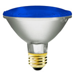 75 Watt - PAR30 - Blue - 120 Volt - 2,500 Life Hours - Halogen Light Bulb - Bulbrite 683753