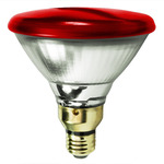 90 Watt - PAR38 - Red - 120 Volt - 2,500 Life Hours - Halogen Light Bulb - Bulbrite 683907