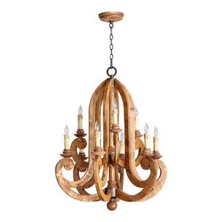 Quorum 6163-9-23 - Two Tier Chandelier - 9 Light -  Provincial Finish