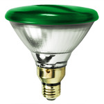 90 Watt - PAR38 - Green - 120 Volt - 2,500 Life Hours - Halogen Light Bulb -  Bulbrite 683904