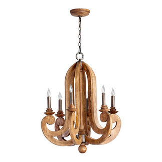 Quorum 6163-6-23 - Chandelier - 6 Light -  Provincial Finish