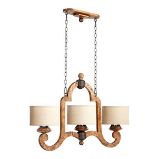 Quorum 6663-6-23 - Island Pendant - 6 Light - Provincial Finish