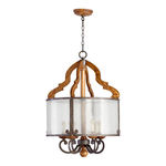 Quorum 8263-6-23 - Foyer Pendant - 6 Light - Provincial Finish