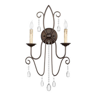Quorum 5516-2-86 - Wall Sconce - 2 Light - Oiled Bronze Finish