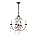 Quorum 6116-4-86 - Chandelier - 4 Light - Oiled Bronze Finish