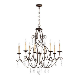 Quorum 6116-8-86 - Chandelier - 8 Light - Oiled Bronze Finish