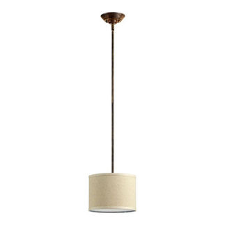 Quorum  - 3166-21  - Drum Pendant - 1 Light - Early American Finish