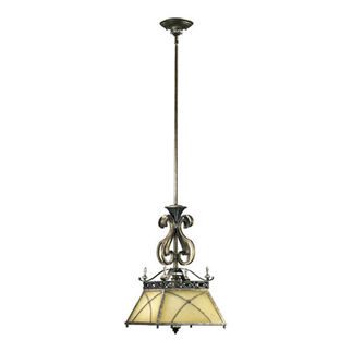 Quorum 3175-87 - Pendant - 1 Light - Byzantine Bronze Finish