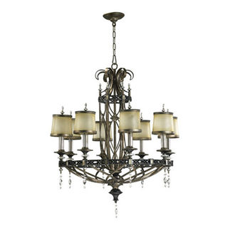 Quorum 6075-8-87 - Chandelier - 8 Light - Byzantine Bronze Finish