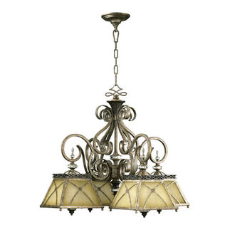 Quorum 6475-4-87 - Nook Bowl Pendant - 4 Light - Byzantine Bronze Finish