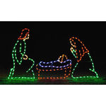 6.1 ft. x 9.9 ft. - C7 LED - Nativity Scene Joseph, Mary, and Baby Jesus - 120 Volt