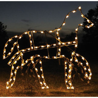 5.25 ft. x 5.7 ft. - C7 LED - Animated Victorian Horse - 120 Volt