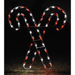 5 ft. - C7 LED - Peppermint Crossed Candy Canes - 120 Volt