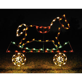4.1 ft. x 5.1 ft. - C7 LED - Animated Rocking Horse Train Car - 120 Volt
