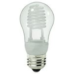 Dimmable - 5 Watt - A-Shape CCFL - 25 W Equal - 2700K Warm White - Min. Start Temp. 5 Deg. F - 82 CRI - 40 Lumens per Watt - 25,000 Life Hours - 15 Month Warranty - Ushio 3000476 Dimmable CFL CCFL Bulb