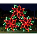 11 ft. x 12 ft. - C7 LED - Poinsettia Cluster - 120 Volt