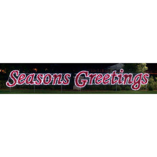 5.7 ft. x 40 ft. - C7 LED - Seasons Greetings Sign - 120 Volt