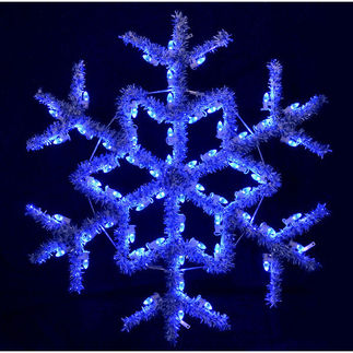 4 ft. - Blue - C7 LED - Hanging Garland Snowflake - 120 Volt