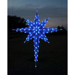 6.8 ft. - Blue - C7 LED - Half Moravian Star (Front Only) - 120 Volt