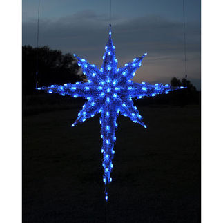 6.8 ft. - Blue - C7 LED - 3D Moravian Star - 120 Volt