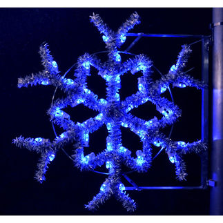 3 ft. - Blue - C7 LED - Garland Snowflake Pole Decoration - 120 Volt