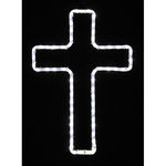 2.1 ft. - Cool White - LED Rope Light - Small Hanging Cross - 120 Volt