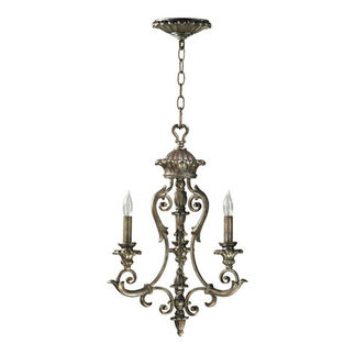 Quorum 6100-3-58 - Chandelier - 3 Light - Mystic Silver Finish