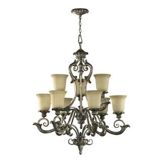 Quorum 6100-9-58 - Chandelier - 9 Light - Mystic Silver Finish