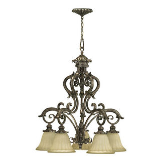 Quorum 6400-5-58 - Chandelier - 5 Light - Mystic Silver Finish