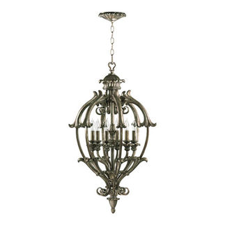 Quorum 6800-6-58 - Foyer Pendant - 6 Light - Mystic Silver Finish