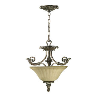 Quorum 2100-16-58 - Bowl Pendant - 2 Light - Mystic Silver Finish