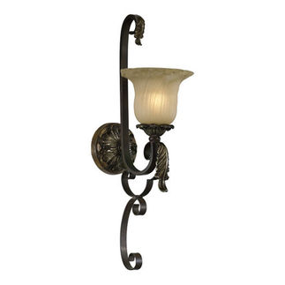 Quorum 5491-1-44 - Wall Sconce - 1 Light -  Toasted Sienna Finish - Belmira Collection