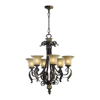 Quorum 6091-8-44 - Chandelier - 8 Light - Toasted Sienna Finish - Belmira Collection